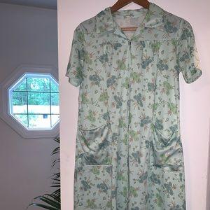 VINTAGE house dress amazing medium